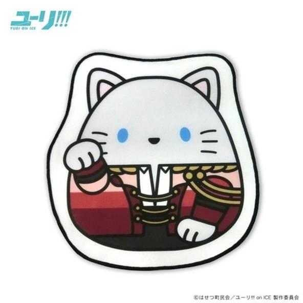 ユーリ!!! on ICE まねきもちねこ ダイカットミニタオル/ヴィクトル・ニキフォロフ