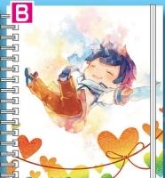 900【グッズ-ノート】VOCALOID KAITO ミニリングノート/B