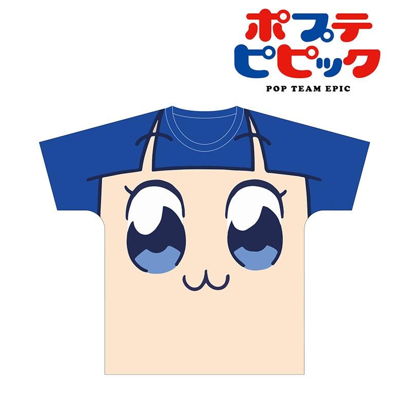 【グッズ-Tシャツ】ポプテピピック フルグラフィックフェイスTシャツ(ピピ美) ユニセックス L