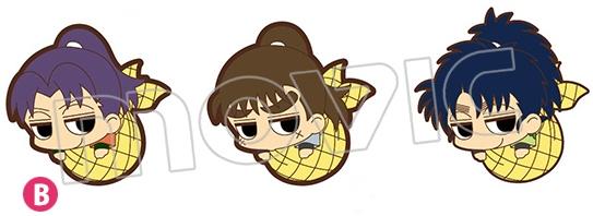 忍たま乱太郎 ゆるっとだる~んラバーストラップセット(AGF記念)/B:摂津のきり丸、中在家長次、七松小平太