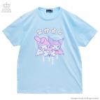 【グッズ-Tシャツ】サンリオ×LISTEN FLAVOR マイメロディとクロミのふたりはなかよしビッグTシャツ LIGHT BLUE-Free