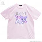 【グッズ-Tシャツ】サンリオ×LISTEN FLAVOR マイメロディとクロミのふたりはなかよしビッグTシャツ LIGHT PINK-Free