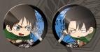 【グッズ-バッチ】ぷちった! 進撃の巨人 缶バッジセット エレン&リヴァイ