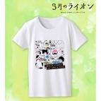 【グッズ-Tシャツ】3月のライオン ラインアートTシャツ レディース/サイズXXXL