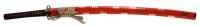 900【コスプレ-武器】【匠刀房】NEU-018RRD-f:廉価版模造刀剣 戦国シリーズ・真田六文銭(赤拵) 大刀/収納袋付き