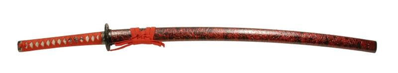 900【コスプレ-武器】【匠刀房】NEU-057:廉価版模造刀剣 雲シリーズ・赤雲 大小セット/刀剣のみ