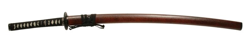 900【コスプレ-武器】【匠刀房】NEU-041:廉価版模造刀剣 石目シリーズ・赤石目 大小セット/刀剣のみ