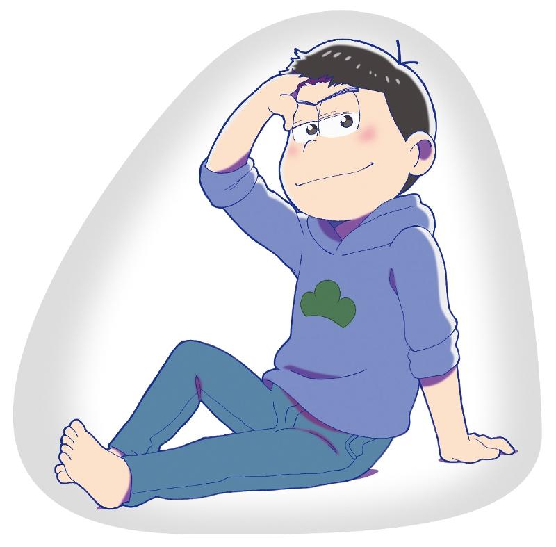 """【グッズ-クッション】""""人をダメにするおそ松さんグッズ""""〜クッション〜/カラ松 パーカーver."""