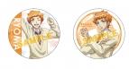 【グッズ-バッチ】美男高校地球防衛部LOVE! HAPPY KISS! 缶バッジセット/霧島(きゃらびぃ&ティザー)