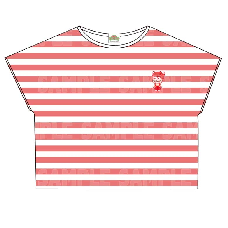【グッズ-Tシャツ】おそ松さん×Sanrio characters ボーダーTシャツ (おそ松)