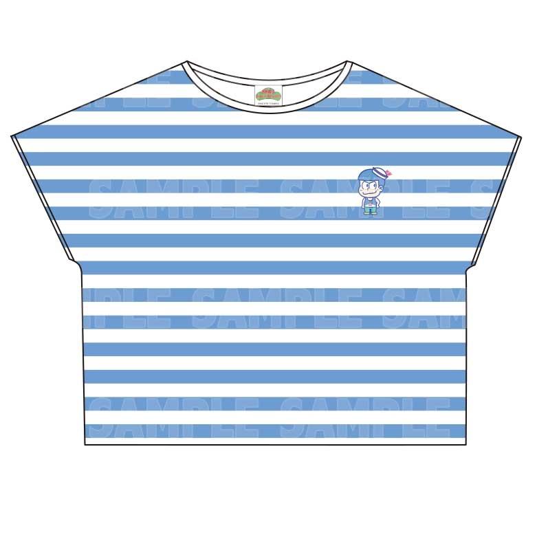 【グッズ-Tシャツ】おそ松さん×Sanrio characters ボーダーTシャツ (カラ松)
