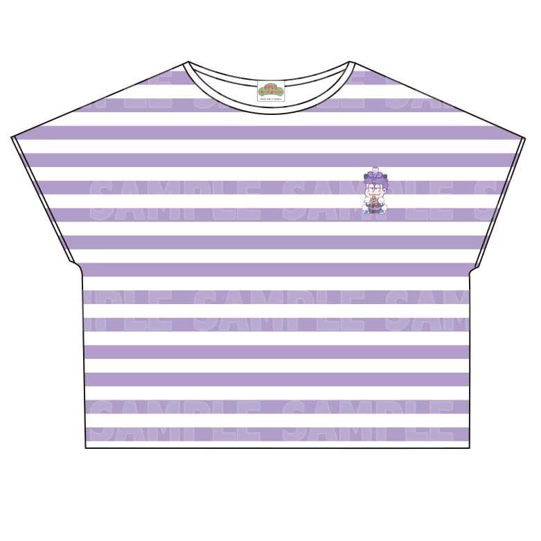 【グッズ-Tシャツ】おそ松さん×Sanrio characters ボーダーTシャツ (一松)