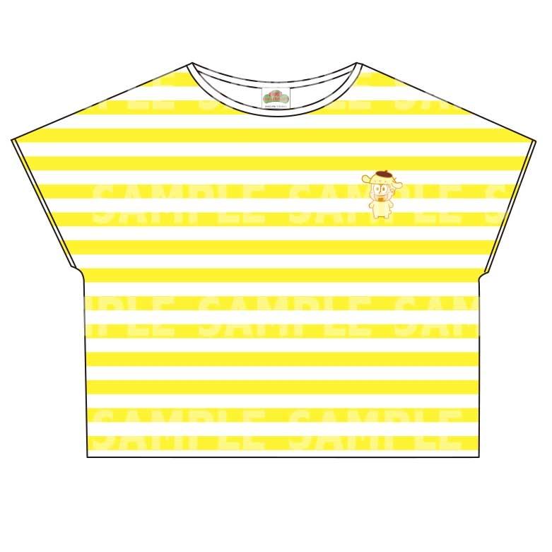 【グッズ-Tシャツ】おそ松さん×Sanrio characters ボーダーTシャツ (十四松)
