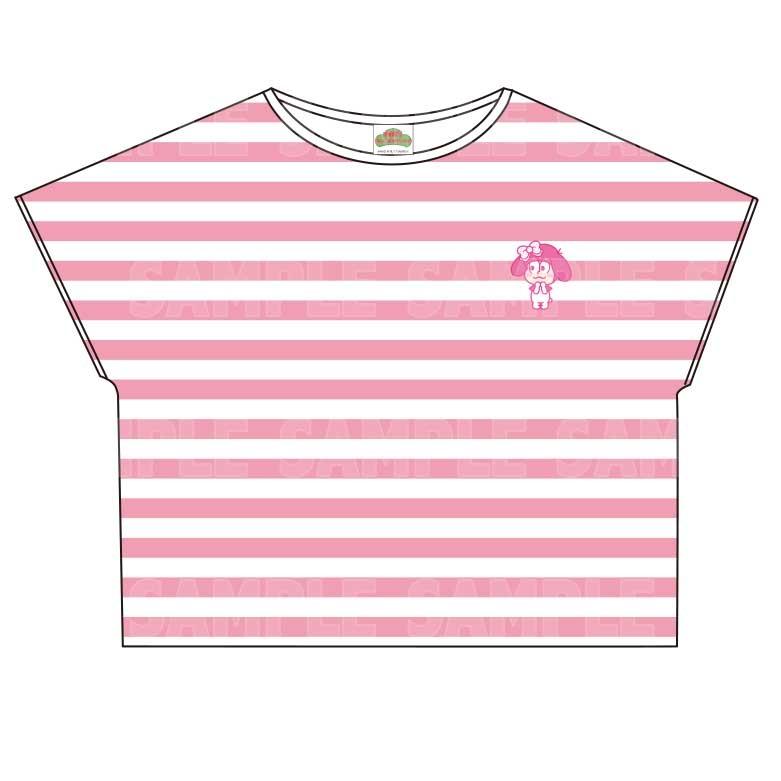 【グッズ-Tシャツ】おそ松さん×Sanrio characters ボーダーTシャツ (トド松)