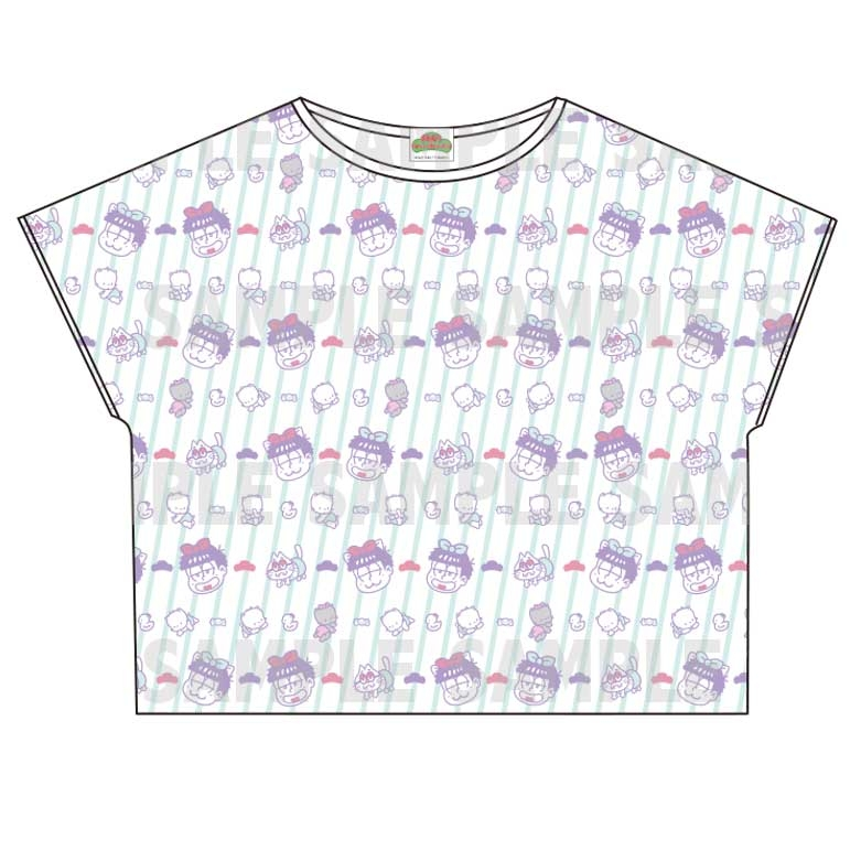 【グッズ-Tシャツ】おそ松さん×Sanrio characters 総柄Tシャツ (一松)