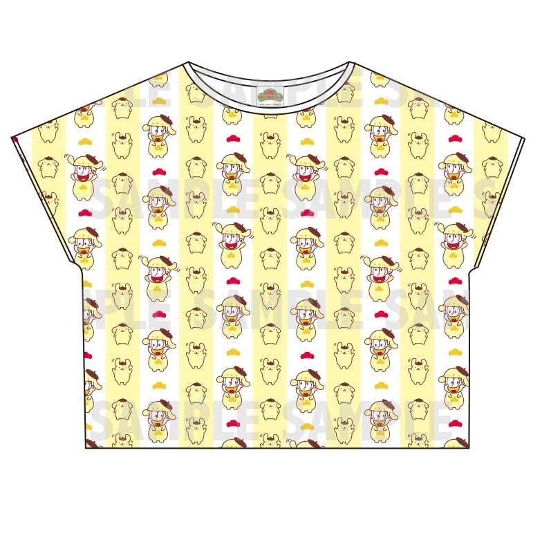 【グッズ-Tシャツ】おそ松さん×Sanrio characters 総柄Tシャツ (十四松)