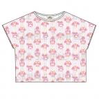 【グッズ-Tシャツ】おそ松さん×Sanrio characters 総柄Tシャツ (トド松)