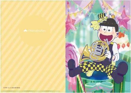 【グッズ-クリアファイル】おそ松さん【描き下ろし】吹奏楽松クリアファイル/十四松