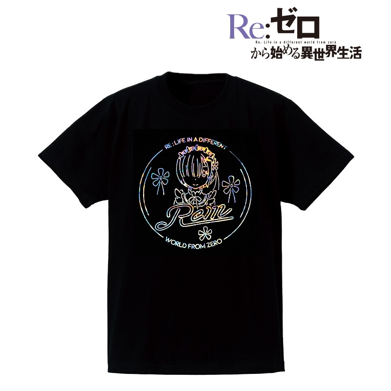 Re:ゼロから始める異世界生活 Ani-Neon ホログラムTシャツ(レム)/メンズ(サイズ/S)