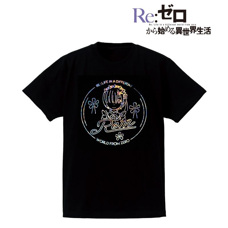 Re:ゼロから始める異世界生活 Ani-Neon ホログラムTシャツ(レム)/メンズ(サイズ/L)