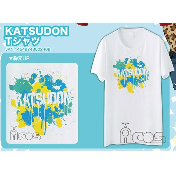 【コスプレ-Tシャツ】ユーリ!!! on ICE KATSUDON Tシャツ
