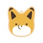 【グッズ-ストラップ】タヌキとキツネ アイシングクッキー風 ラバーストラップ(キツネ)