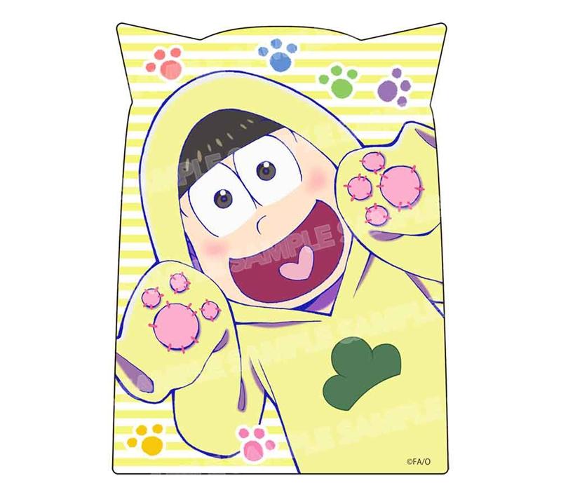 【グッズ-ステッカー】おそ松さん ダイカットステッカー ニャンコ6つ子ver.(十四松)