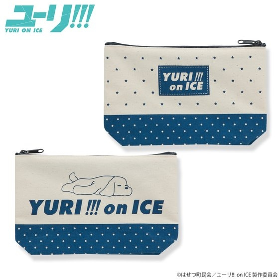 【グッズ-ポーチ】ユーリ!!! on ICE ポーチ ドット柄 (マチあり)