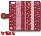 【グッズ-カバーホルダー】刀剣乱舞-花丸- 手帳型iPhone6/6s用ケース/加州清光
