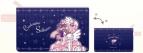 【グッズ-ポーチ】カードキャプターさくら 持ち手付フラットポーチ/夜空