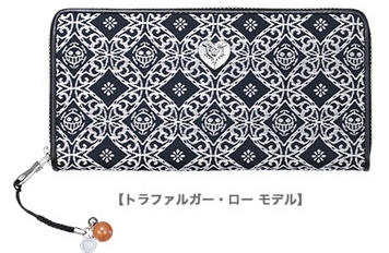 900【グッズ-財布】ONE PIECE 海賊同盟 西陣織長財布 ロー