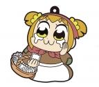 【グッズ-ストラップ】ポプテピピック 「描き下ろし」ホッカイロ売りの少女 ラバーストラップ ポプ子