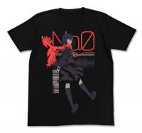 900【グッズ-Tシャツ】カゲロウプロジェクト メカクシティアクターズ アヤノ Tシャツ BLACK-L