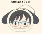 【グッズ-マスコット】ユーリ!!! on ICE × Sanrio characters おまんじゅうにぎにぎマスコット(サンリオキャラクターズver.)  1/勇利&ポチャッコ