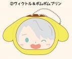 【グッズ-マスコット】ユーリ!!! on ICE × Sanrio characters おまんじゅうにぎにぎマスコット(サンリオキャラクターズver.)  2/ヴィクトル&ポムポムプリン