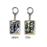 900【グッズ-キーホルダー】戦国BASARA4 プラキーホルダー 伊達/柴田