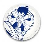 【グッズ-皿】ドラゴンボールZ 陶磁器絵皿(セラミックプレート) 2.ベジータ