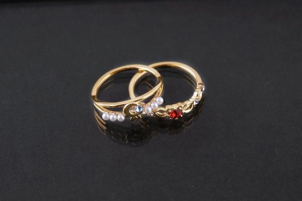 900【グッズ-指輪】新テニスの王子様 大石&菊丸指輪 Doubles Ring 13号
