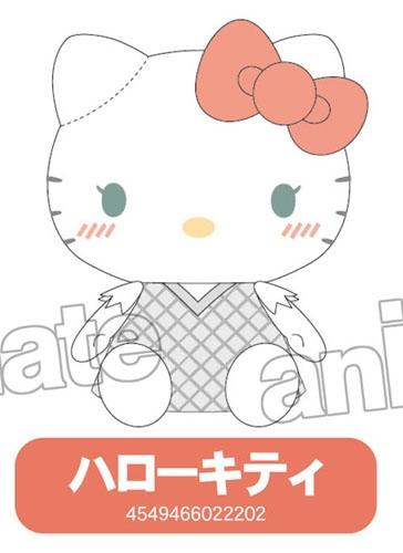 900【グッズ-ぬいぐるみ】ユーリ! on ICExサンリオキャラクターズ ぬいぐるみ S/ハローキティ