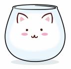 【グッズ-タンブラー・グラス】ご注文はうさぎですか?? ゆらゆらティッピーグラス