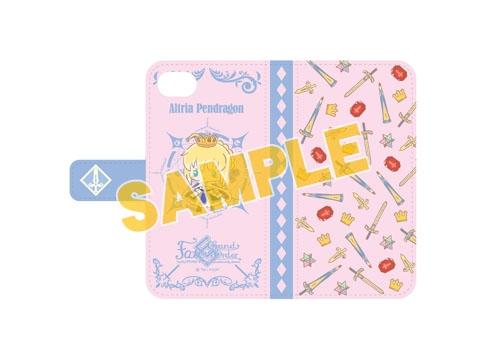 【グッズ-携帯グッズ】特価 Fate/Grand Order 【Design produced by Sanrio】  手帳型iPhoneケース(6,6s,7,8対応) アルトリア・ペンドラゴン