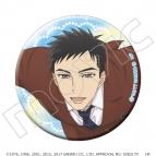 【グッズ-バッチ】サンリオ男子 キラキラ缶バッジ E:源誠一郎