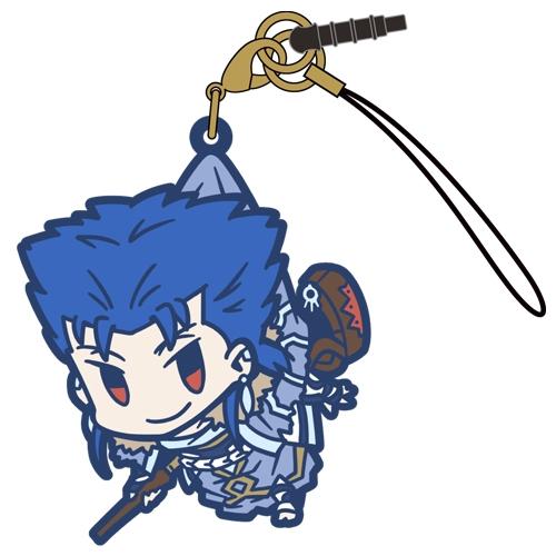 【グッズ-ストラップ】Fate/Grand Order キャスター/クー・フーリンつままれストラップ【再販】