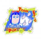 【グッズ-ステッカー】ポプテピピック トラベルステッカー ピピ美(B)