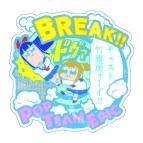 【グッズ-ステッカー】ポプテピピック トラベルステッカー ポプ子&ピピ美(A)