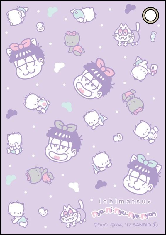 おそ松さん×Sanrio Characters 合皮パスケース 一松×ニャニィニュニェニョン