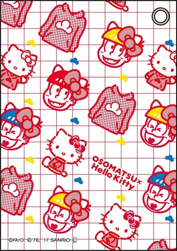 おそ松さん×Sanrio Characters 合皮パスケース おそ松×ハローキティ