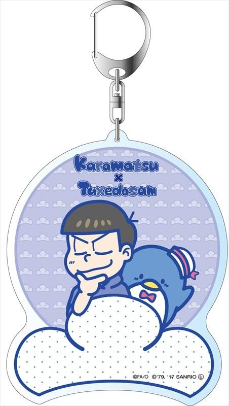 おそ松さん×Sanrio Characters デカキーホルダー カラ松×タキシードサム B