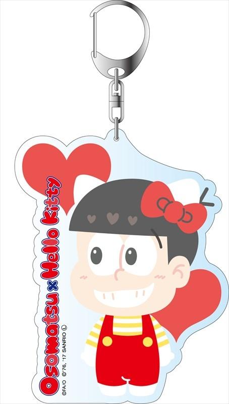 おそ松さん×Sanrio Characters デカキーホルダー おそ松×ハローキティ A