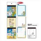 【グッズ-メモ帳】ポプテピピック×サンリオキャラクターズ 3Pメモ帳 B
